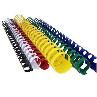 Spirali plastica 21 anelli in confezione